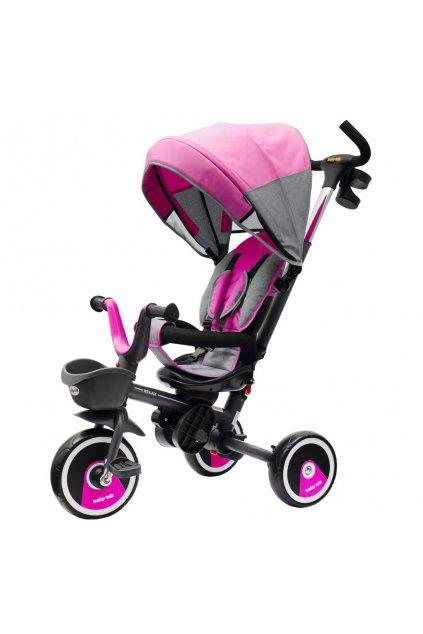 Detská trojkolka Baby Mix 5v1 RELAX 360° ružová