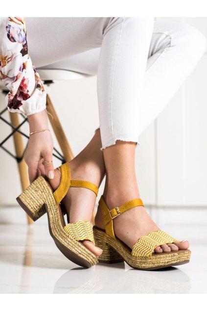 Žlté sandále Evento kod 20SD98-1615Y