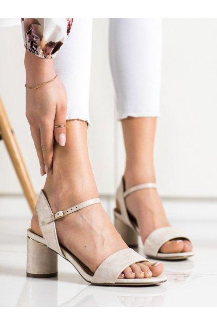 Hnedé sandále na podpätku Evento kod 20SD35-1821GO