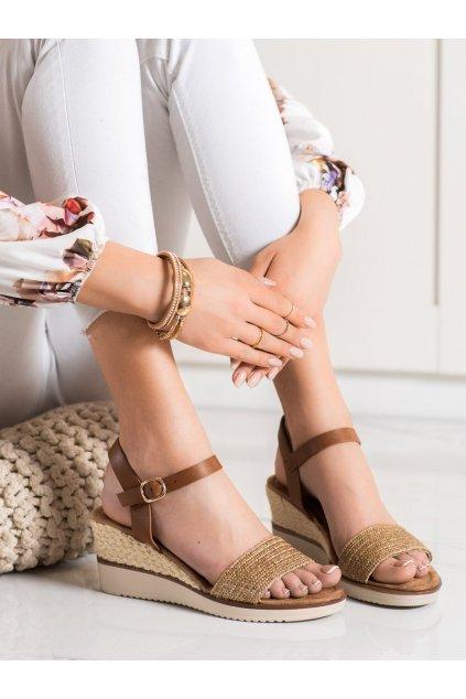 Hnedé sandále Evento kod 21SD98-3590BE