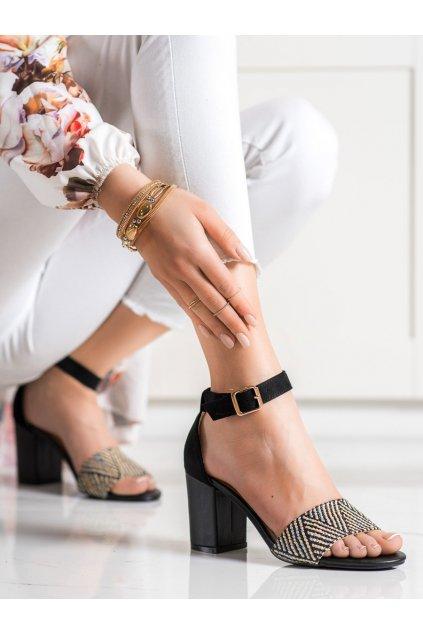 Čierne sandále na podpätku Evento kod 21SD35-3580B