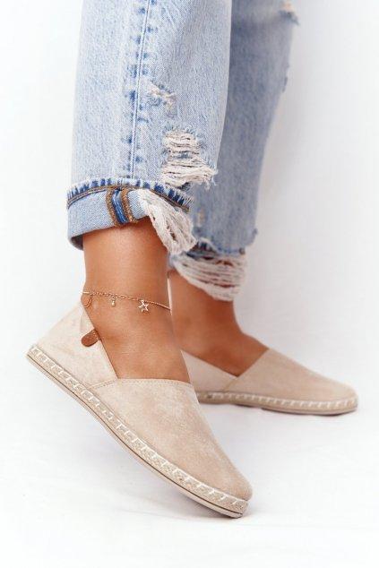 Dámske tenisky farba hnedá kód obuvi 20TX02-2416 BEIGE