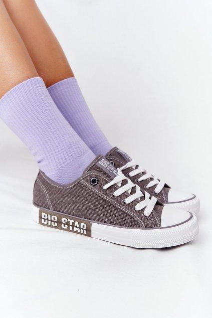 Dámske tenisky farba sivá kód obuvi HH274116 GREY
