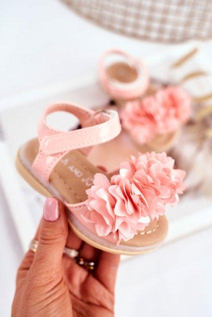 Detské sandále farba ružová NJSK 243-C PINK