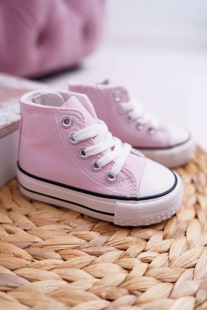 Detské tenisky farba ružová NJSK 80090 PINK
