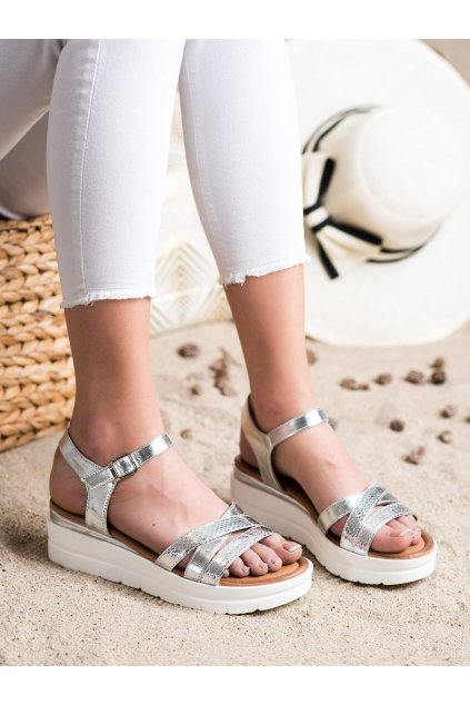 Sivé sandále na platforme Seastar kod NS118S