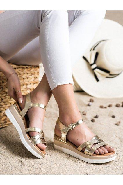 Zlaté sandále na platforme Seastar kod NS118GO