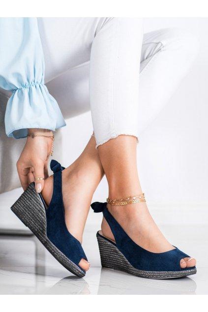 Modré sandále na platforme Vinceza kod XY21-10610N
