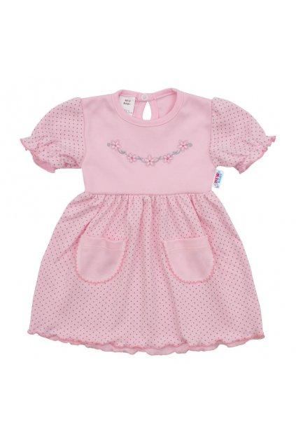 Dojčenské šatôčky s krátkym rukávom New Baby Summer dress NJSK 41958