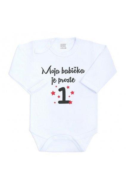 Body s potlačou New Baby Moja babička je proste jednotka NJSK 27173