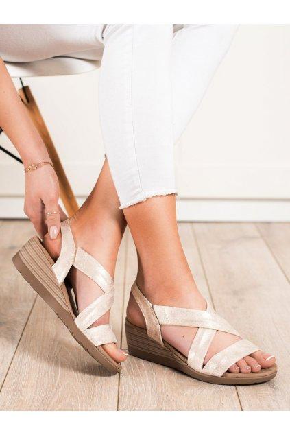 Hnedé sandále S. barski kod BZY-1BE