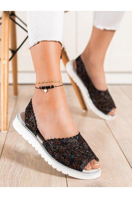 Viacfarebné sandále s plochou podrážkou Shelovet kod LR83890B
