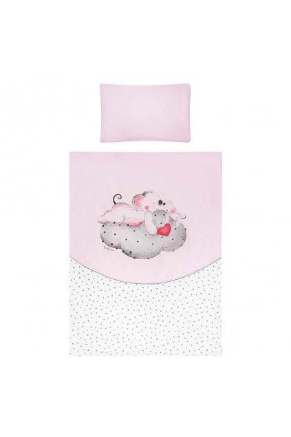 3-dielne posteľné obliečky Belisima LOVE 90/120 ružové