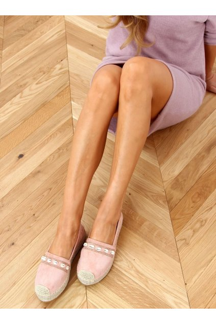 Dámske sandále ružové na plochom podpätku 6771