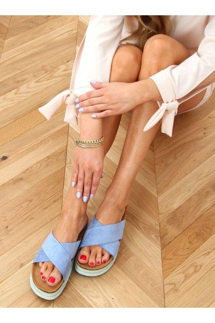 Damske šľapky modré LS016
