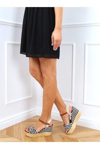Dámske sandále čierne na platforme A89907