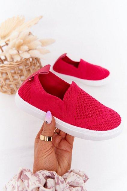 Detské tenisky farba ružová kód obuvi HH374102 FUCHSIA