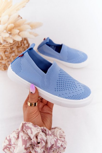 Detské tenisky farba modrá kód obuvi HH374108 BLUE
