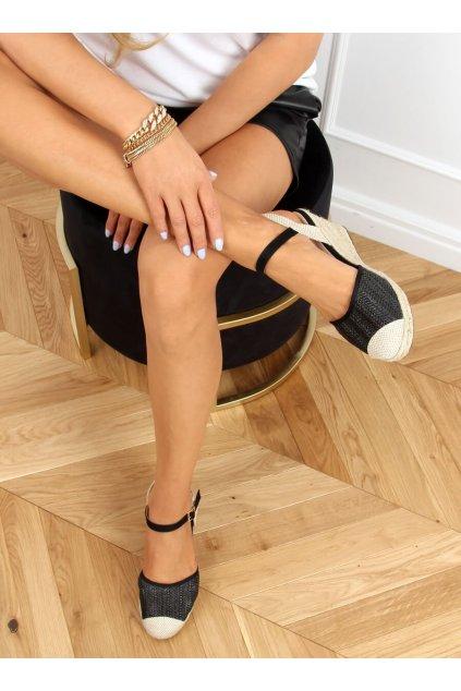 Dámske sandále čierne na platforme DZ8006