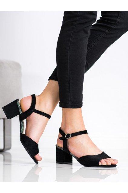 Čierne sandále Sergio leone NJSK SK827B