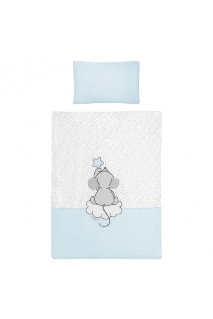 5-dielne posteľné obliečky Belisima Cute Mouse 100/135 tyrkysové