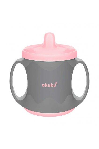 Farebný kúzelný hrnček Akuku 200 ml sivo-ružový