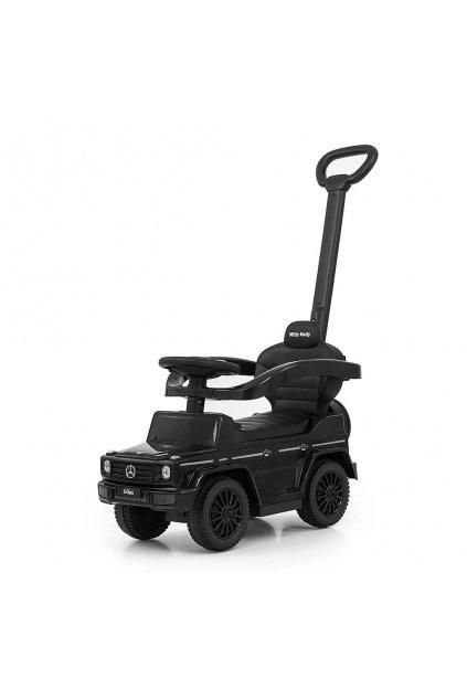 Detské odrážadlo s vodiacou tyčou MERCEDES G350d Milly Mally čierne