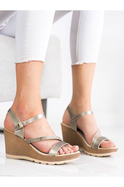 Sivé sandále na platforme Sabatina kod K15018S