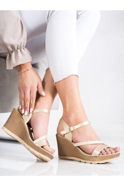 Žlté sandále na platforme Sabatina kod K15018CH