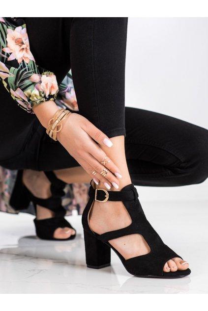 Čierne sandále Sabatina kod DM19-20B