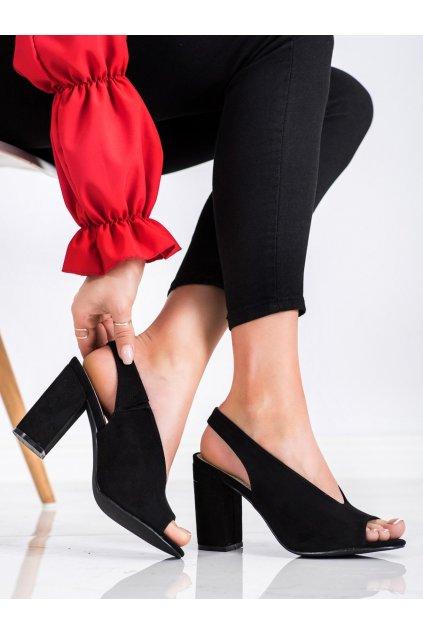 Čierne sandále S. barski kod LJ2006B
