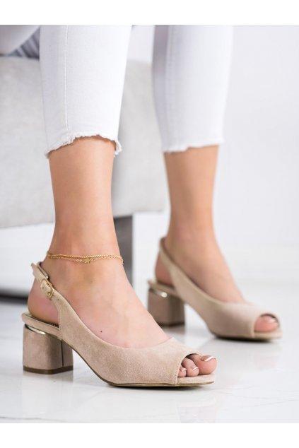Hnedé sandále na podpätku Goodin kod GD-FL1320BE/GO