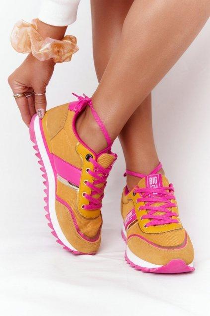 Dámske tenisky farba ružová kód obuvi HH274273 YELLOW