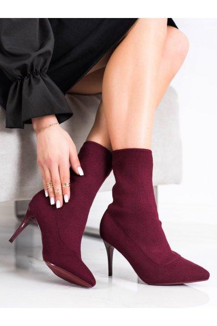 Červené dámske topánky Sabatina kod IMG-0410BUR