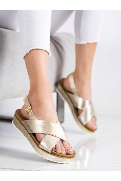 Zlaté sandále na platforme Goodin kod GD-OC-300GO