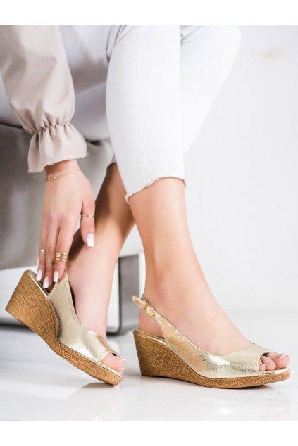 Zlaté sandále na platforme Goodin kod GD-FL653A-GO