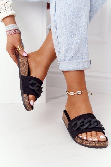 Dámske šľapky farba čierna kód obuvi DZ907 BLACK