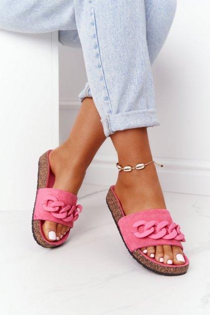 Dámske šľapky farba ružová kód obuvi DZ907-15 M.PEACH