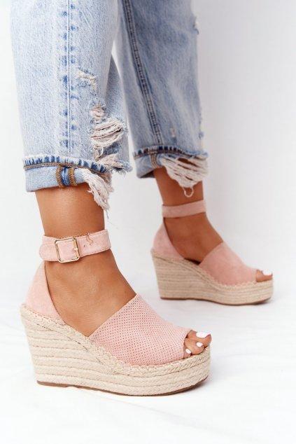 Dámske sandále na platforme farba ružová kód obuvi BL1920-11 PINK