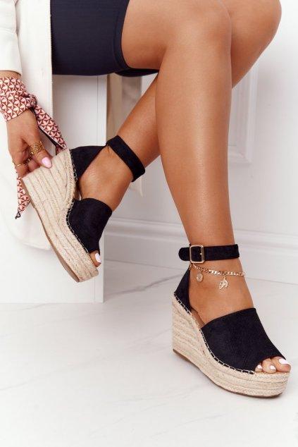 Dámske sandále na platforme farba čierna kód obuvi BL1920 BLACK