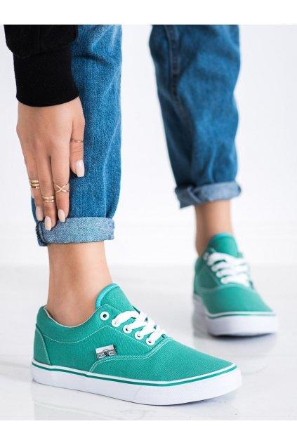Odcienie niebieskiego, odcienie zieleni tenisky New age kod 086MI