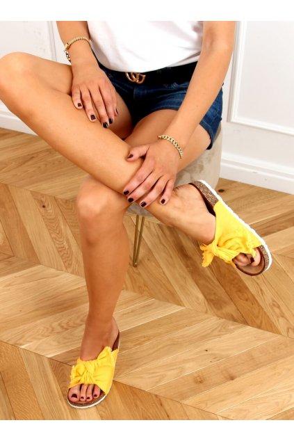 Damske šľapky žlté WS11
