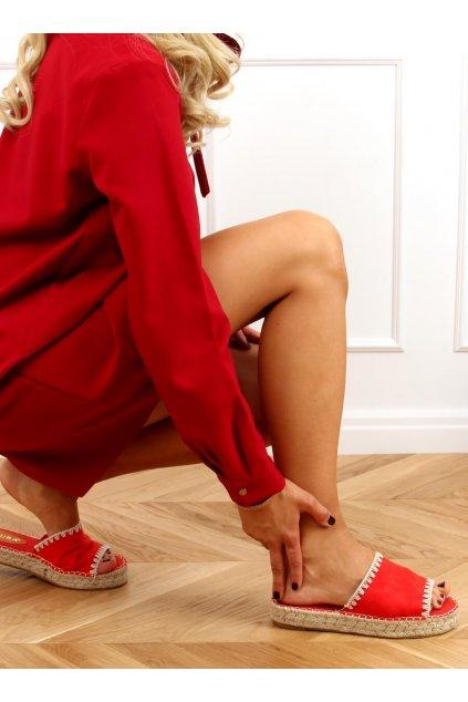 Damske šľapky červené 6095