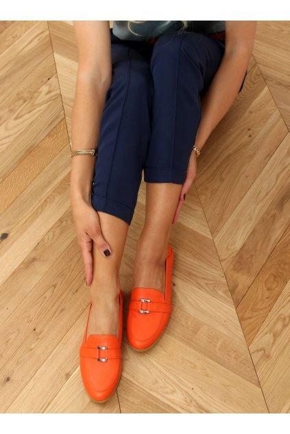 Dámske mokasíny oranžové 4585
