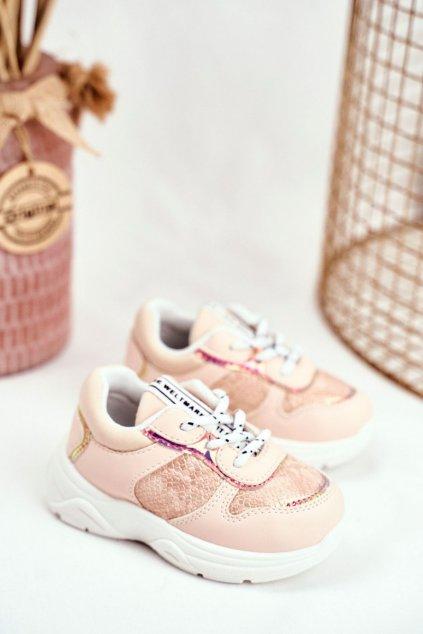 Detské tenisky farba ružová NJSK 899-B PINK