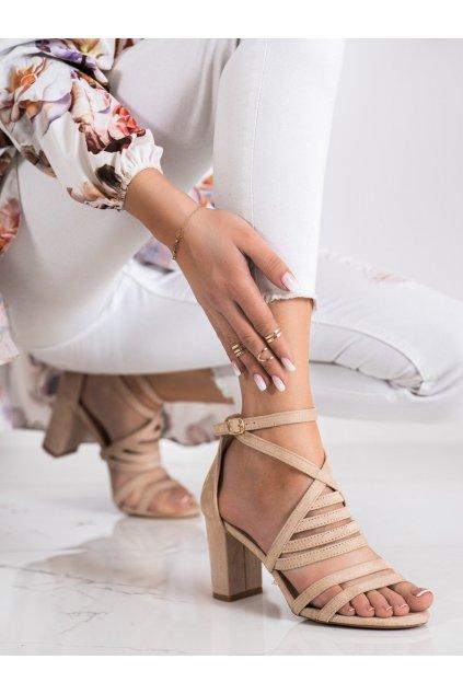Hnedé sandále na podpätku Vinceza kod YQE21-17133BE