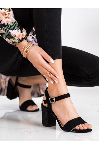 Čierne dámske sandále Vinceza kod YQE21-17100B