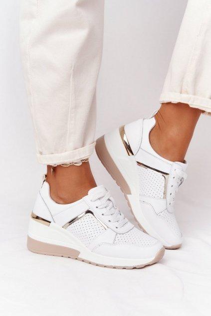 Dámske tenisky farba biela kód obuvi 97627 WHITE