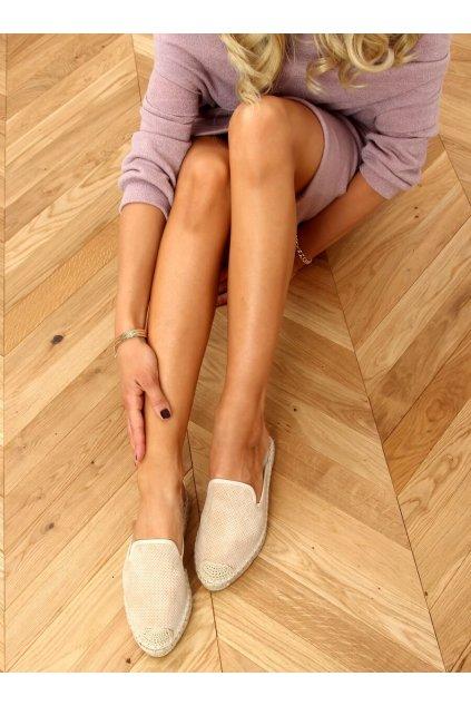 Dámske sandále hnedé na plochom podpätku 4821