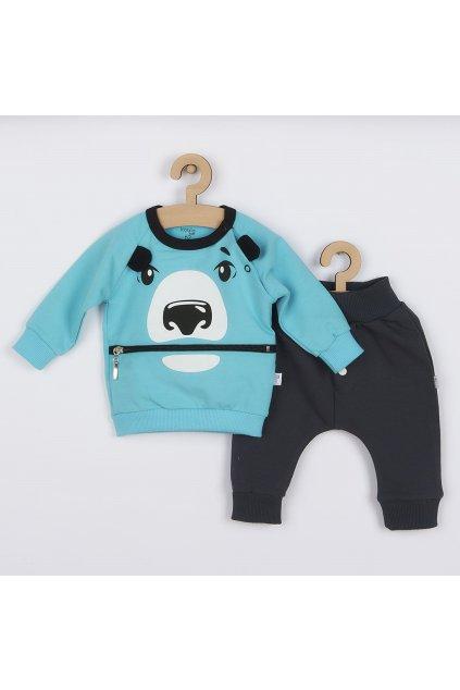 Dojčenské tepláčky a mikinka Koala Surprise tyrkysová